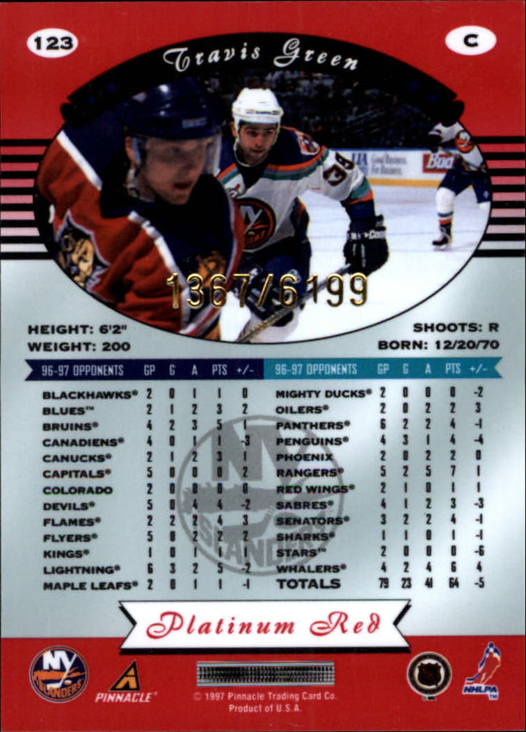 miniature 246 - 1997-98 Pinnacle Totally Certified Platinum Red Pick Your Player Cheap Shipping
