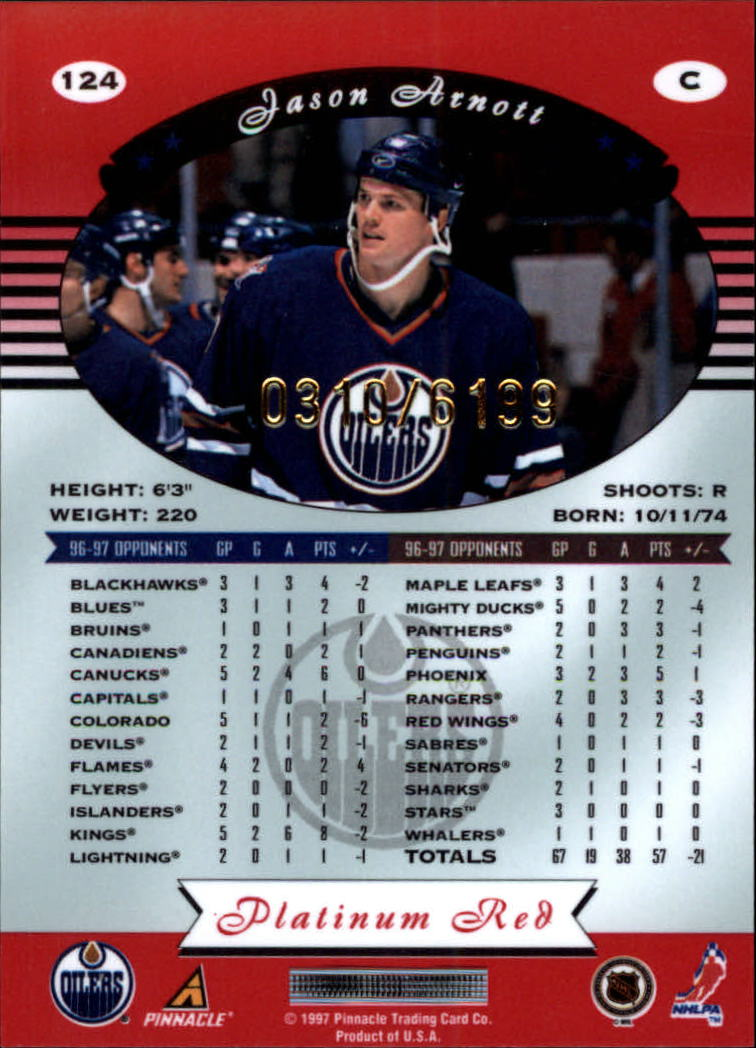 miniature 248 - 1997-98 Pinnacle Totally Certified Platinum Red Pick Your Player Cheap Shipping