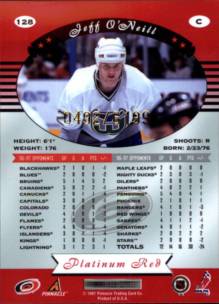 miniature 256 - 1997-98 Pinnacle Totally Certified Platinum Red Pick Your Player Cheap Shipping