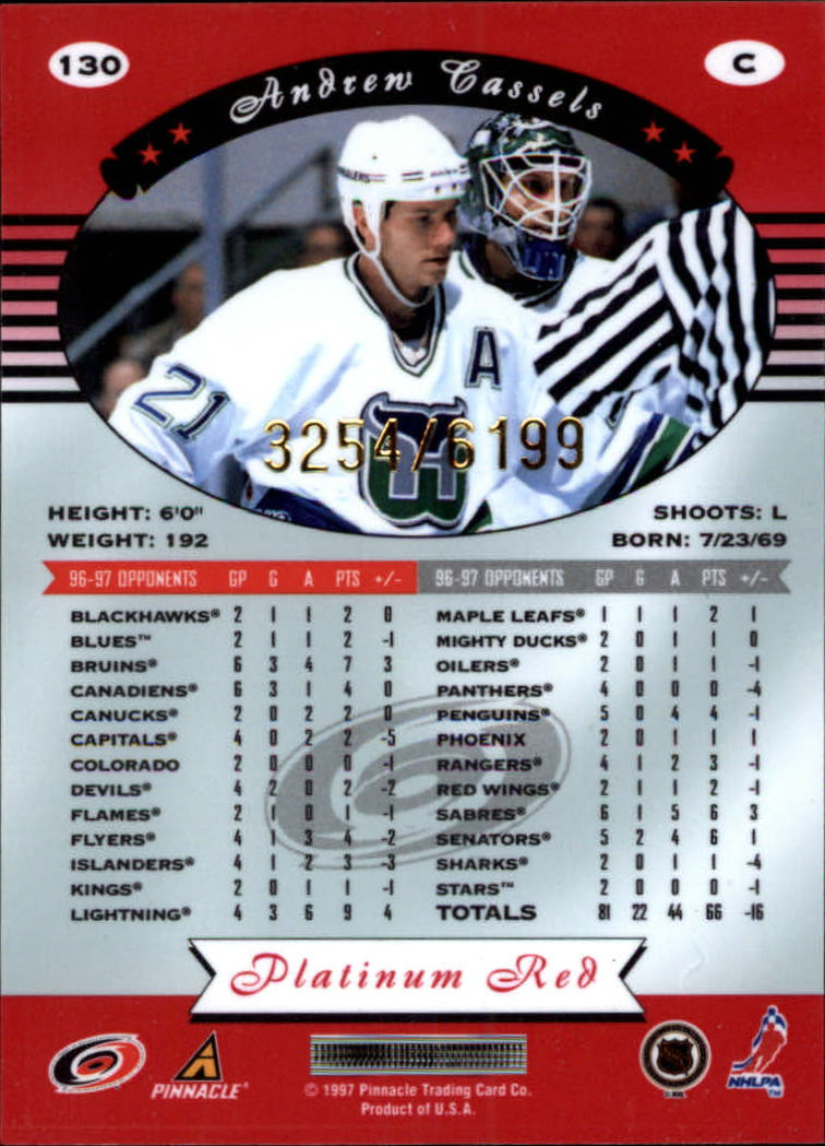 miniature 260 - 1997-98 Pinnacle Totally Certified Platinum Red Pick Your Player Cheap Shipping