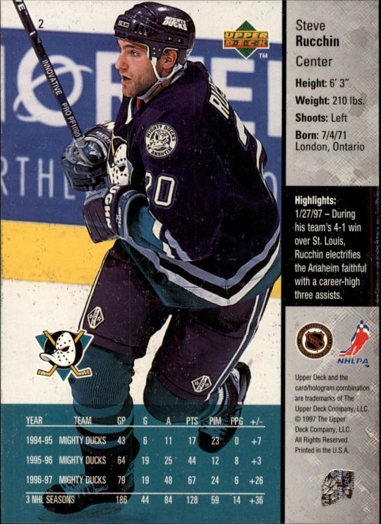 1997-98-Upper-Deck-Hk-Cards-1-195-Rookies-A4551-You-Pick-10-FREE-SHIP thumbnail 5