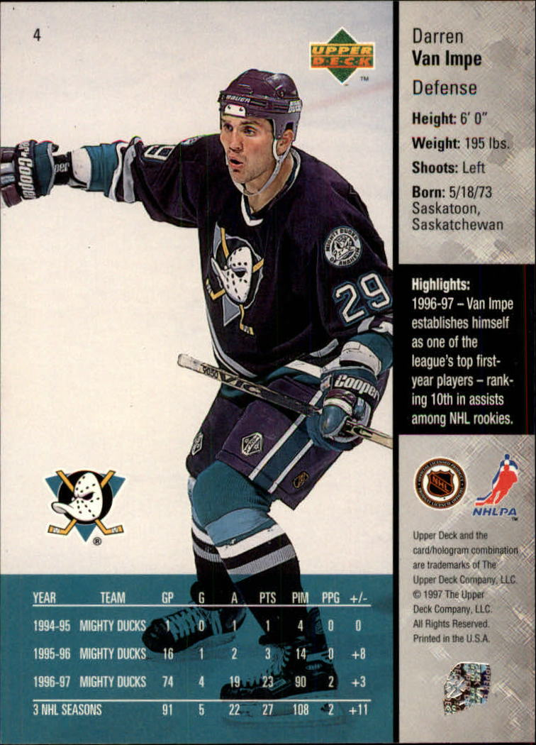 1997-98-Upper-Deck-Hk-Cards-1-195-Rookies-A4551-You-Pick-10-FREE-SHIP thumbnail 9