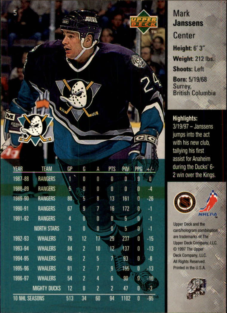1997-98-Upper-Deck-Hk-Cards-1-195-Rookies-A4551-You-Pick-10-FREE-SHIP thumbnail 11