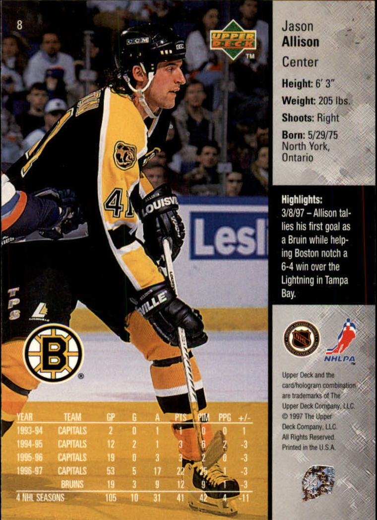 1997-98-Upper-Deck-Hk-Cards-1-195-Rookies-A4551-You-Pick-10-FREE-SHIP thumbnail 17