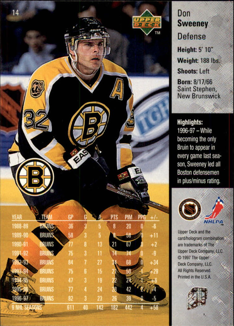 1997-98-Upper-Deck-Hk-Cards-1-195-Rookies-A4551-You-Pick-10-FREE-SHIP thumbnail 27