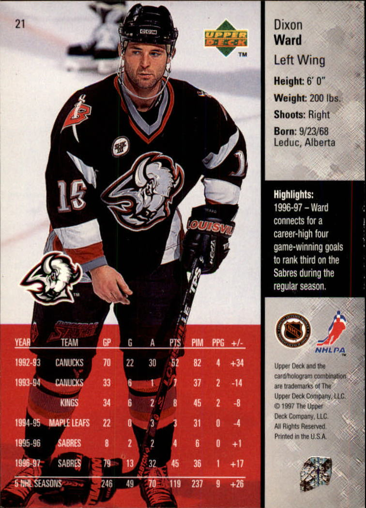 1997-98-Upper-Deck-Hk-Cards-1-195-Rookies-A4551-You-Pick-10-FREE-SHIP thumbnail 37