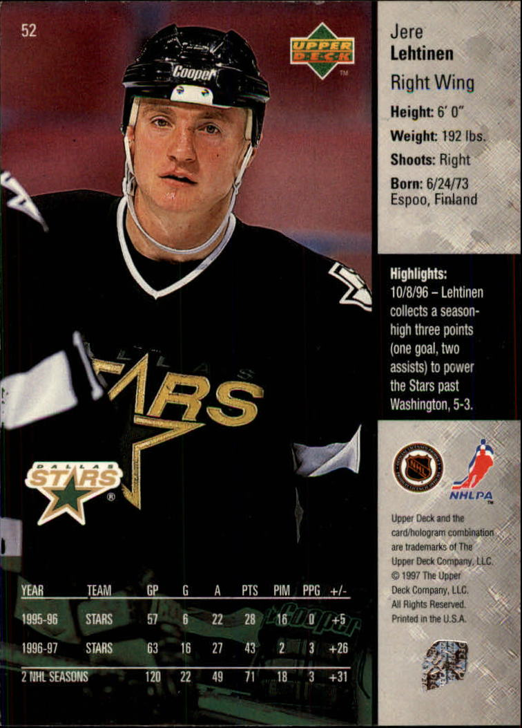 1997-98-Upper-Deck-Hk-Cards-1-195-Rookies-A4551-You-Pick-10-FREE-SHIP thumbnail 92