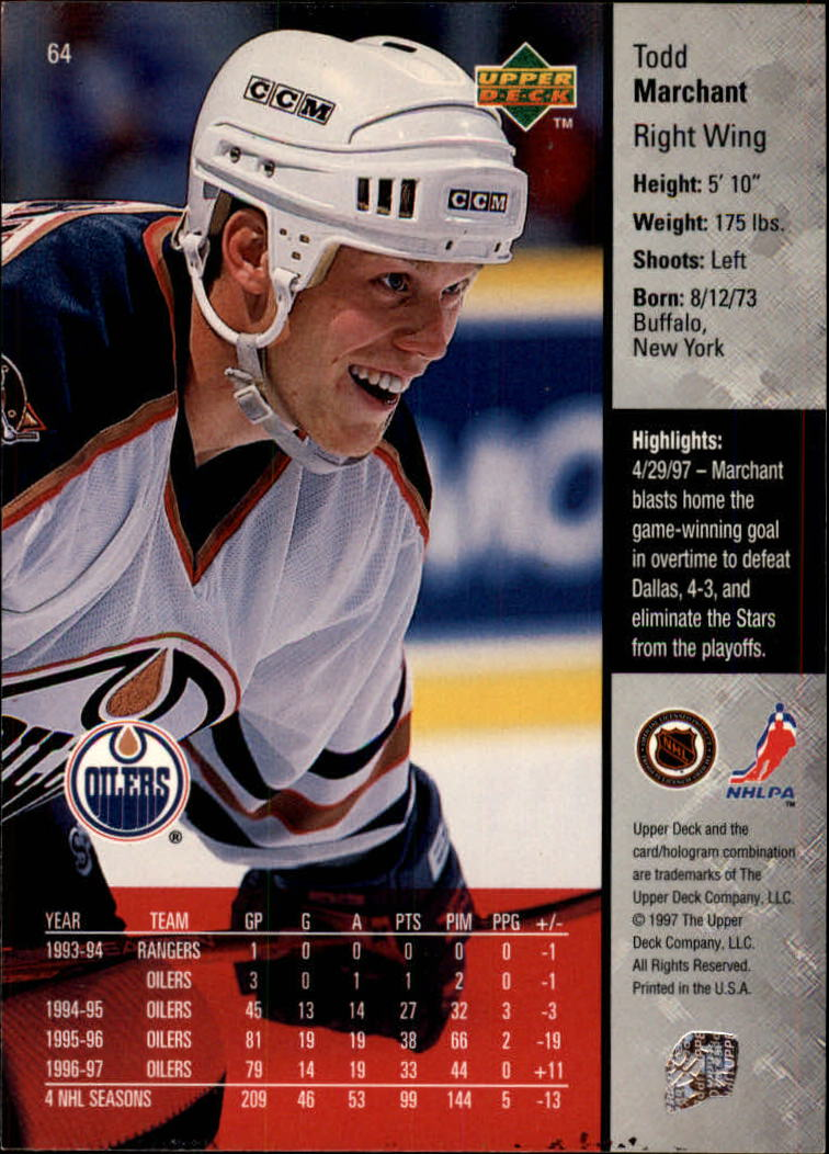 1997-98-Upper-Deck-Hk-Cards-1-195-Rookies-A4551-You-Pick-10-FREE-SHIP thumbnail 110