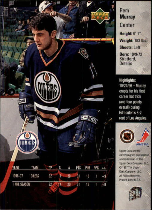 1997-98-Upper-Deck-Hk-Cards-1-195-Rookies-A4551-You-Pick-10-FREE-SHIP thumbnail 122