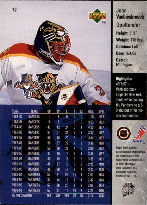 1997-98-Upper-Deck-Hk-Cards-1-195-Rookies-A4551-You-Pick-10-FREE-SHIP thumbnail 126