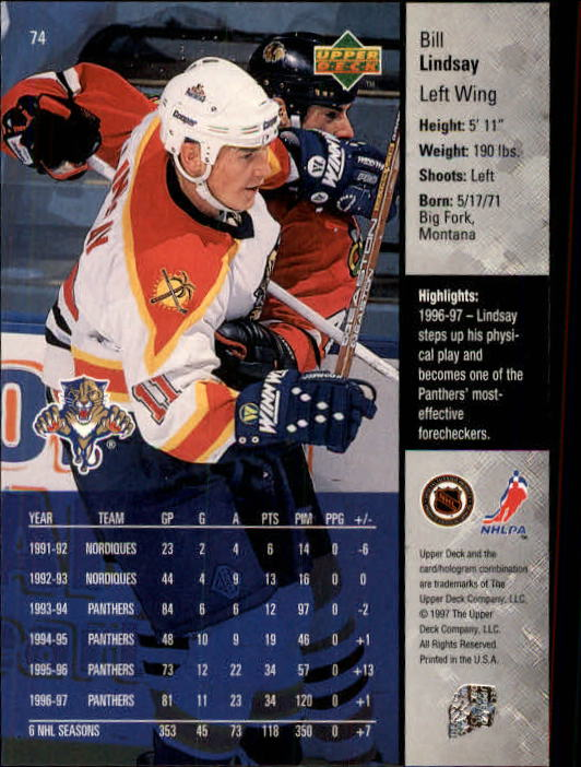 1997-98-Upper-Deck-Hk-Cards-1-195-Rookies-A4551-You-Pick-10-FREE-SHIP thumbnail 130