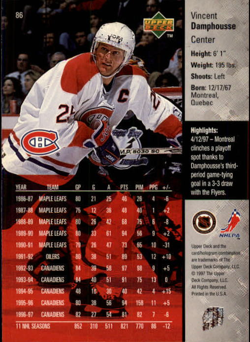 1997-98-Upper-Deck-Hk-Cards-1-195-Rookies-A4551-You-Pick-10-FREE-SHIP thumbnail 152