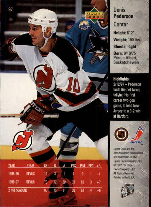 1997-98-Upper-Deck-Hk-Cards-1-195-Rookies-A4551-You-Pick-10-FREE-SHIP thumbnail 170