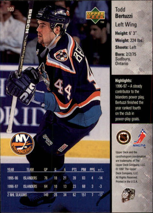 1997-98-Upper-Deck-Hk-Cards-1-195-Rookies-A4551-You-Pick-10-FREE-SHIP thumbnail 182