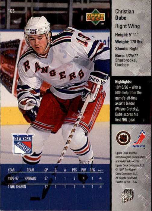 1997-98-Upper-Deck-Hk-Cards-1-195-Rookies-A4551-You-Pick-10-FREE-SHIP thumbnail 186