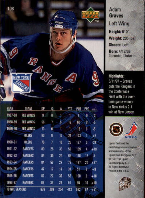 1997-98-Upper-Deck-Hk-Cards-1-195-Rookies-A4551-You-Pick-10-FREE-SHIP thumbnail 190