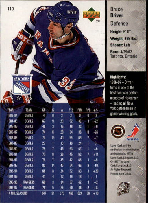 1997-98-Upper-Deck-Hk-Cards-1-195-Rookies-A4551-You-Pick-10-FREE-SHIP thumbnail 194