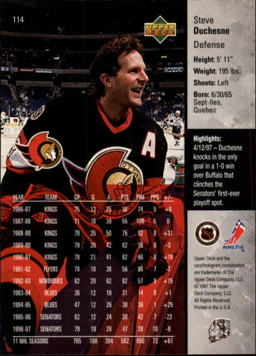 1997-98-Upper-Deck-Hk-Cards-1-195-Rookies-A4551-You-Pick-10-FREE-SHIP thumbnail 202