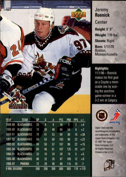 1997-98-Upper-Deck-Hk-Cards-1-195-Rookies-A4551-You-Pick-10-FREE-SHIP thumbnail 226
