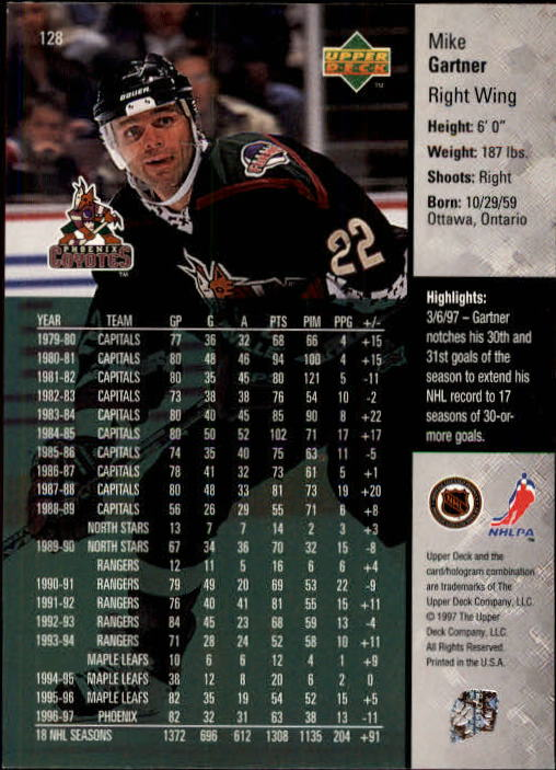 1997-98-Upper-Deck-Hk-Cards-1-195-Rookies-A4551-You-Pick-10-FREE-SHIP thumbnail 228