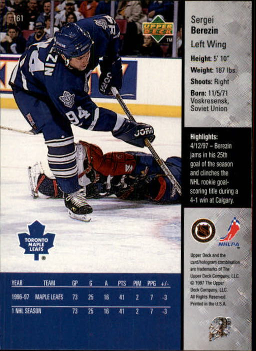 1997-98-Upper-Deck-Hk-Cards-1-195-Rookies-A4551-You-Pick-10-FREE-SHIP thumbnail 290