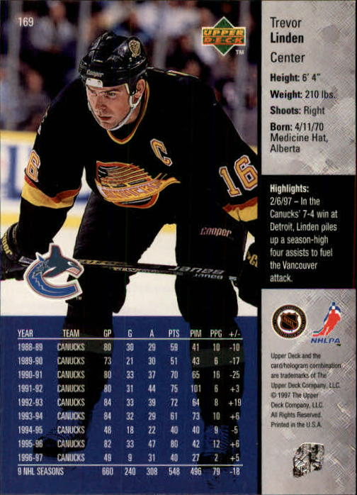 1997-98-Upper-Deck-Hk-Cards-1-195-Rookies-A4551-You-Pick-10-FREE-SHIP thumbnail 304