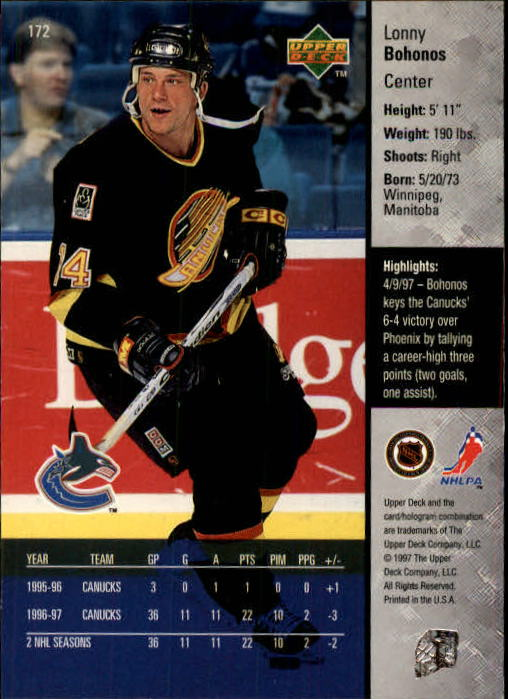 1997-98-Upper-Deck-Hk-Cards-1-195-Rookies-A4551-You-Pick-10-FREE-SHIP thumbnail 310