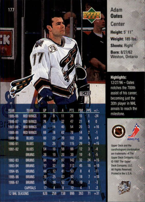1997-98-Upper-Deck-Hk-Cards-1-195-Rookies-A4551-You-Pick-10-FREE-SHIP thumbnail 320