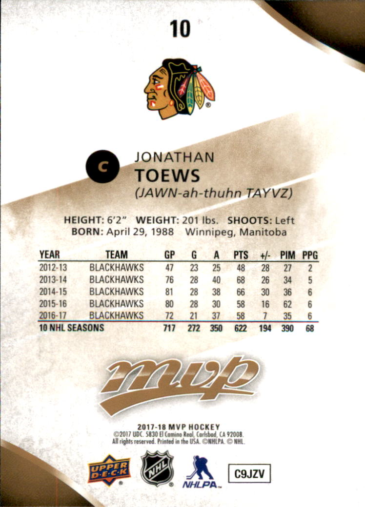 2017-18-Upper-Deck-MVP-Hk-1-250-Rookies-A0932-You-Pick-10-FREE-SHIP thumbnail 375