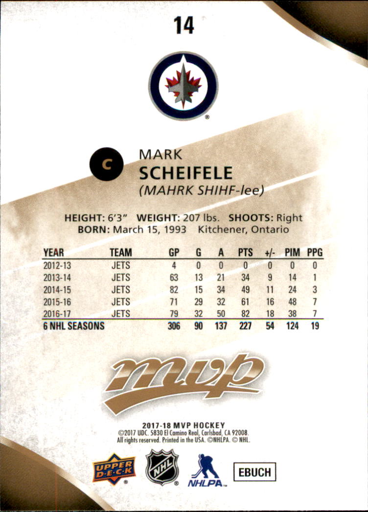 2017-18-Upper-Deck-MVP-Hk-1-250-Rookies-A0932-You-Pick-10-FREE-SHIP thumbnail 320