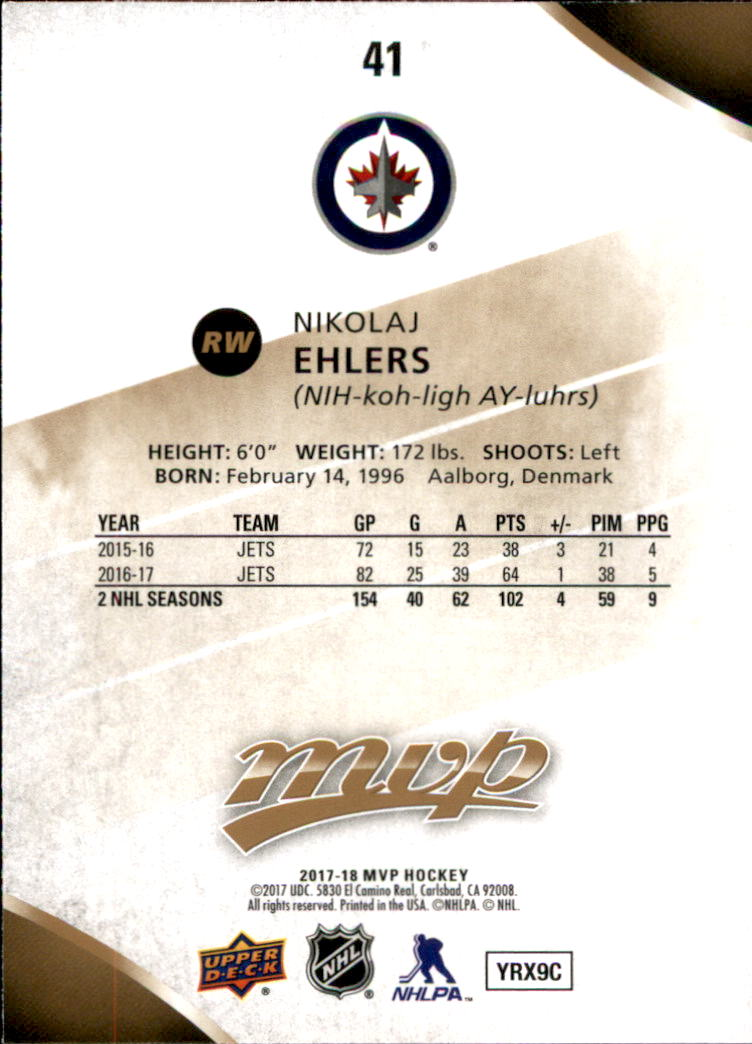 2017-18-Upper-Deck-MVP-Hk-1-250-Rookies-A0932-You-Pick-10-FREE-SHIP thumbnail 189