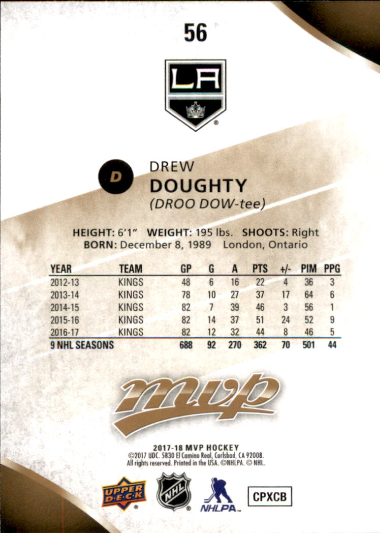 2017-18-Upper-Deck-MVP-Hk-1-250-Rookies-A0932-You-Pick-10-FREE-SHIP thumbnail 333