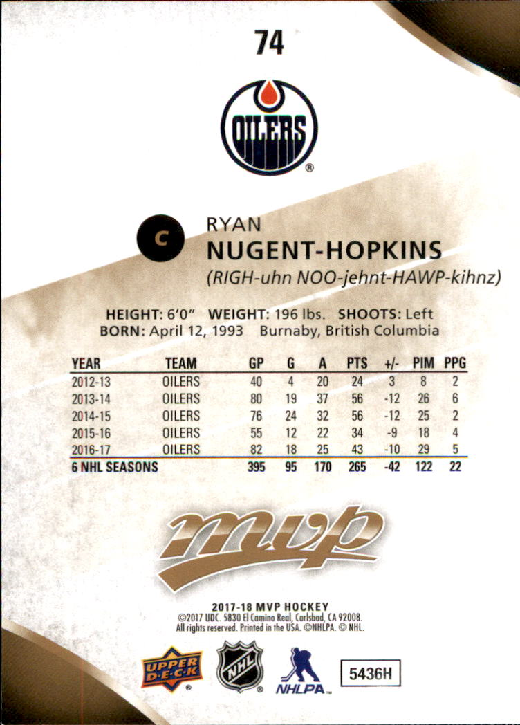 2017-18-Upper-Deck-MVP-Hk-1-250-Rookies-A0932-You-Pick-10-FREE-SHIP thumbnail 209
