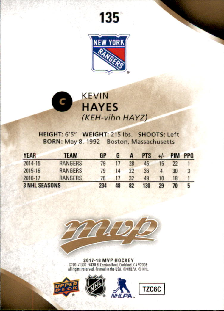 2017-18-Upper-Deck-MVP-Hk-1-250-Rookies-A0932-You-Pick-10-FREE-SHIP thumbnail 262