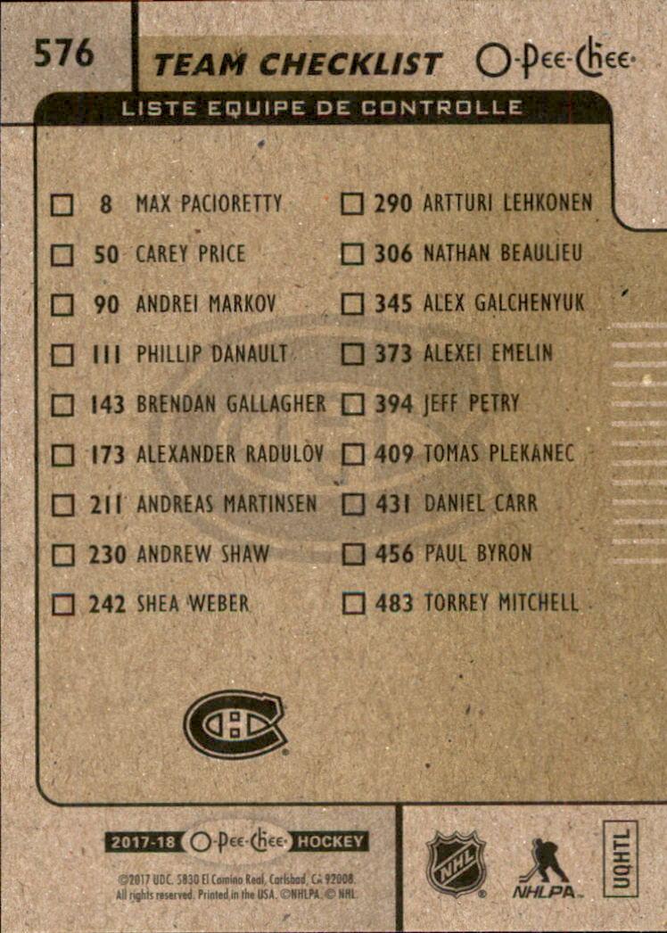 2017-18-O-Pee-Chee-Hockey-Retro-Rainbow-You-Pick-Buy-10-cards-FREE-SHIP thumbnail 101