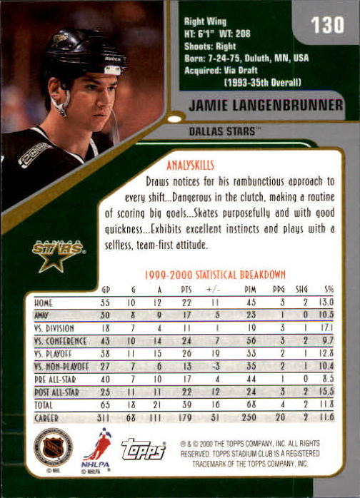 2000-01-Stadium-Club-Hk-s-1-260-Inserts-A2970-You-Pick-10-FREE-SHIP thumbnail 195