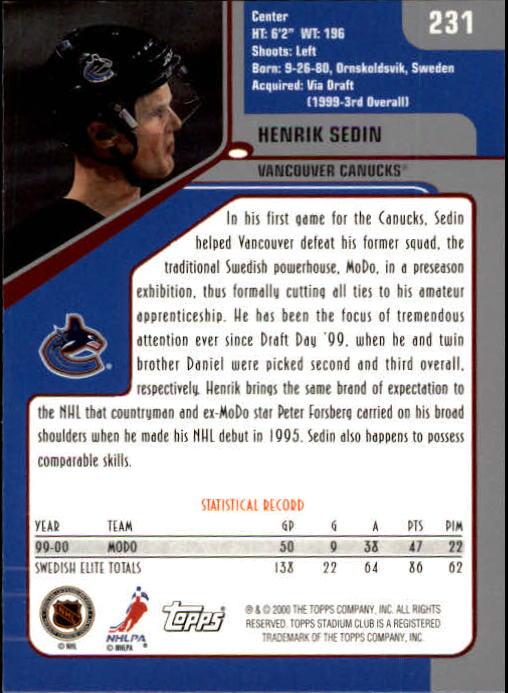 2000-01-Stadium-Club-Hk-s-1-260-Inserts-A2970-You-Pick-10-FREE-SHIP thumbnail 359
