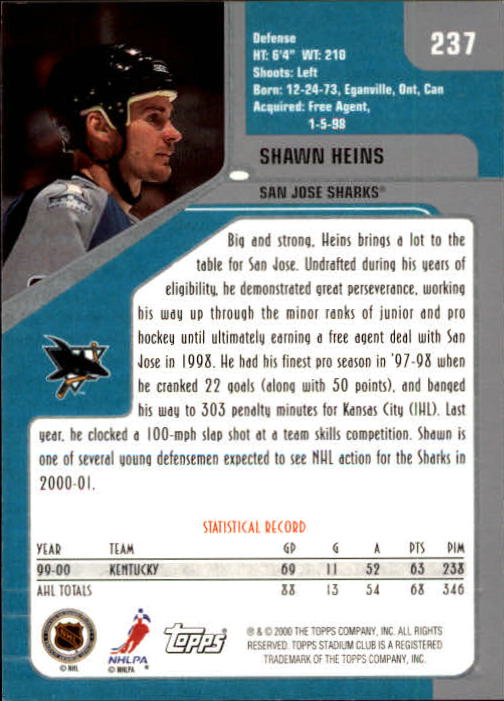 2000-01-Stadium-Club-Hk-s-1-260-Inserts-A2970-You-Pick-10-FREE-SHIP thumbnail 367