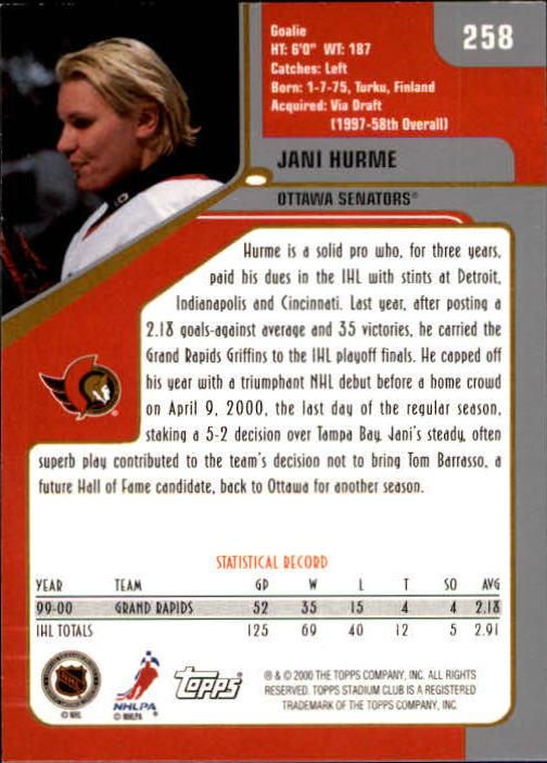 2000-01-Stadium-Club-Hk-s-1-260-Inserts-A2970-You-Pick-10-FREE-SHIP thumbnail 391