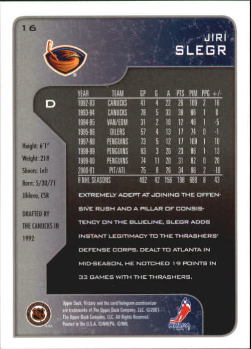 2001-02-Upper-Deck-Victory-Hk-Cards-1-250-A5960-You-Pick-10-FREE-SHIP miniature 31