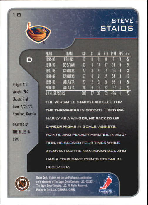 2001-02-Upper-Deck-Victory-Hk-Cards-1-250-A5960-You-Pick-10-FREE-SHIP miniature 35