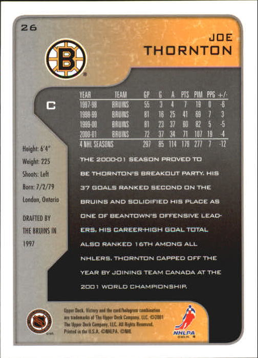 2001-02-Upper-Deck-Victory-Hk-Cards-1-250-A5960-You-Pick-10-FREE-SHIP miniature 47