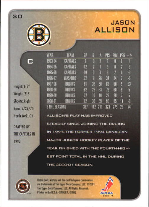 2001-02-Upper-Deck-Victory-Hk-Cards-1-250-A5960-You-Pick-10-FREE-SHIP miniature 55
