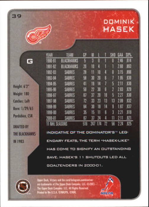 2001-02-Upper-Deck-Victory-Hk-Cards-1-250-A5960-You-Pick-10-FREE-SHIP miniature 71