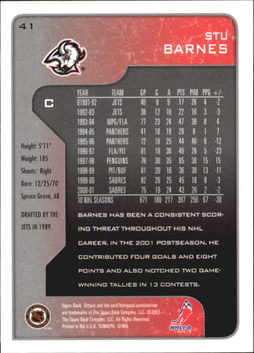 2001-02-Upper-Deck-Victory-Hk-Cards-1-250-A5960-You-Pick-10-FREE-SHIP miniature 75