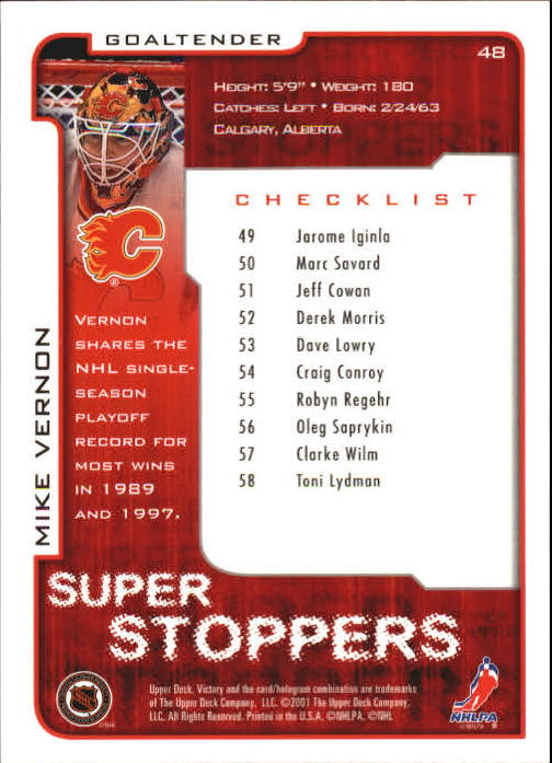 2001-02-Upper-Deck-Victory-Hk-Cards-1-250-A5960-You-Pick-10-FREE-SHIP miniature 89