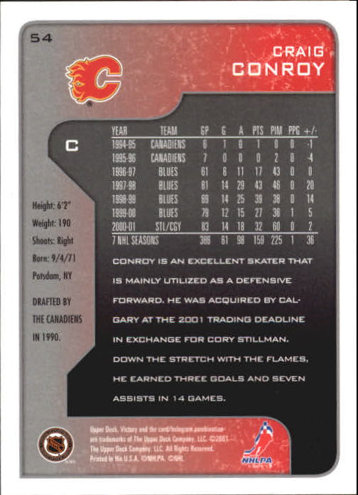 2001-02-Upper-Deck-Victory-Hk-Cards-1-250-A5960-You-Pick-10-FREE-SHIP miniature 101