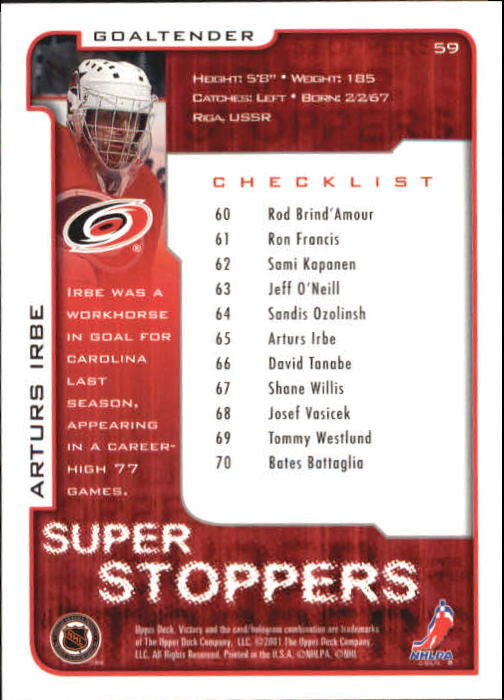 2001-02-Upper-Deck-Victory-Hk-Cards-1-250-A5960-You-Pick-10-FREE-SHIP miniature 111