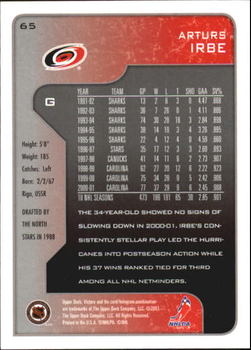 2001-02-Upper-Deck-Victory-Hk-Cards-1-250-A5960-You-Pick-10-FREE-SHIP miniature 123