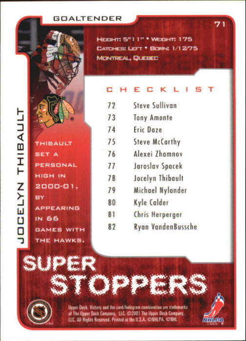 2001-02-Upper-Deck-Victory-Hk-Cards-1-250-A5960-You-Pick-10-FREE-SHIP miniature 135